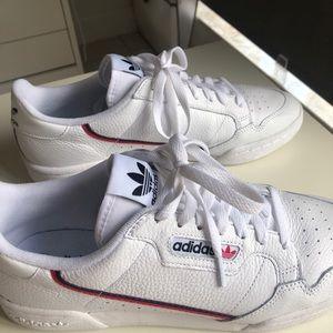 Adidas original white continental 80 sneakers.